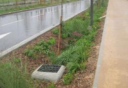 Boulevard Urbain Est tronçon La Soie Vaulx en Velin (Rhône)