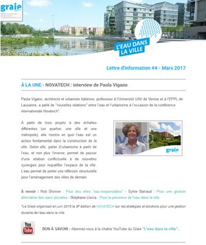 Newsletter L'eau dans la ville