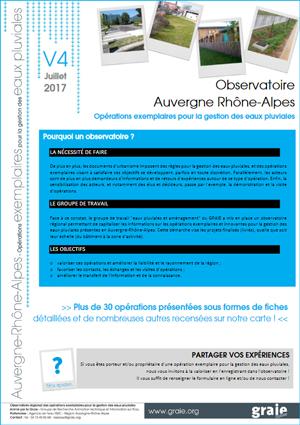 Observatoire régional des opérations exemplaires pour la gestion des eaux pluviales